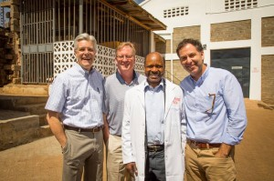 Mr. Jeff Dykstra (CEO-Partners in Food Solutions), Mr. Ben Knoll (Corporate Development) with Mr Cornelius Muthuri founder of Soy Afric